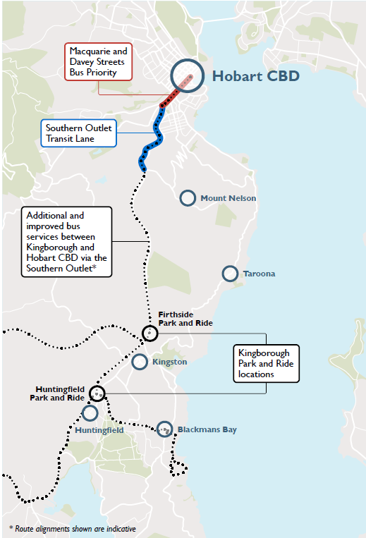 Location map - Hobart City Deal - Southern Projects